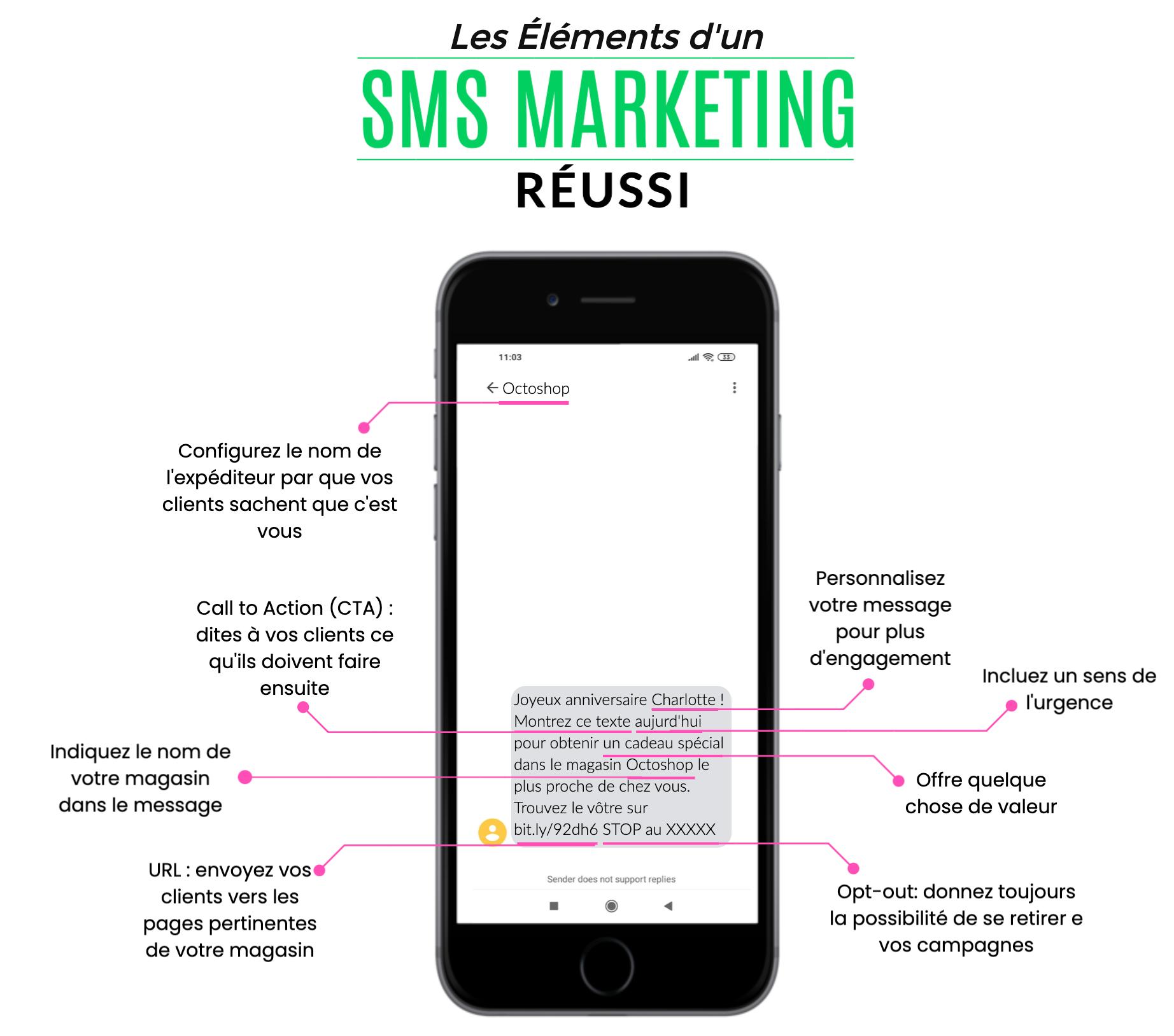 elements sms marketing reussi